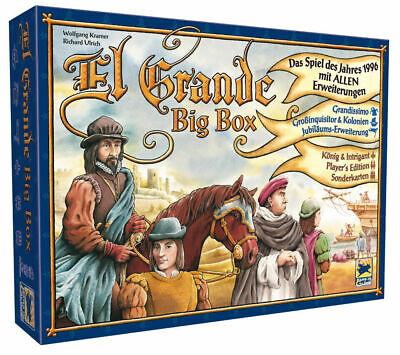 El Grande Big Box DELUXE VERSION board game 20th anniversary Sealed GERMAN