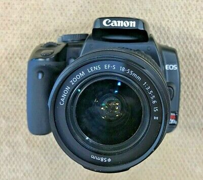 Canon Rebel XTi DSLR Camera with EF-S 18-55mm Lens Black w/ battery/charger