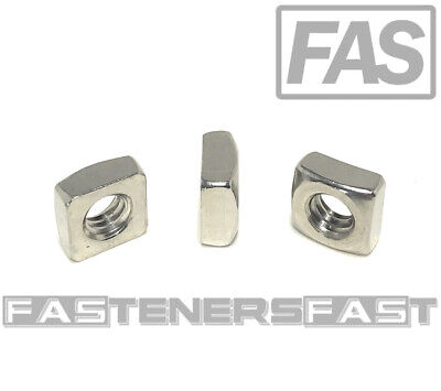 25 14-20 Stainless Steel Square Nuts 18-8 25 Pcs