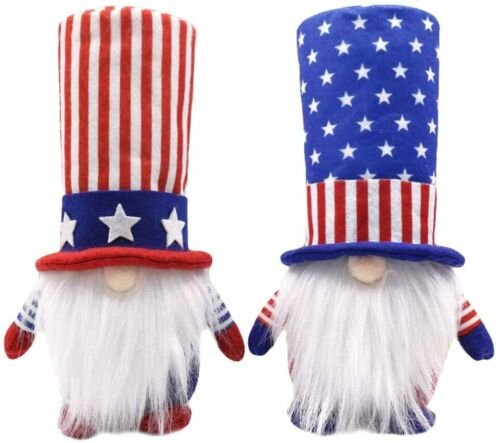 2PCS Patriotic Gnome Doll Toys American President Election 4th of July Gift US