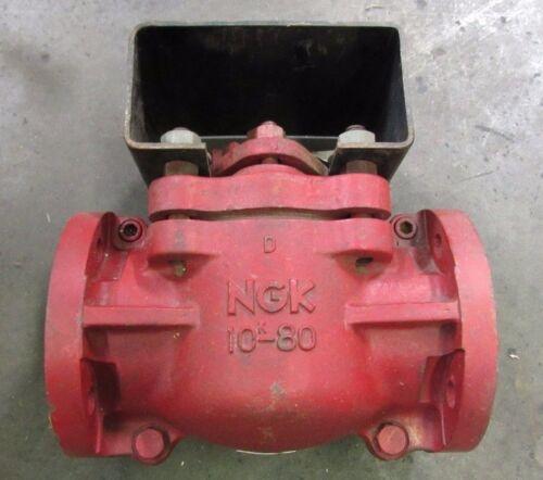 """NEW NGK 10K-80 4"""" CERAMIC PLUG VALVE 4 BOLT FLANGE"""