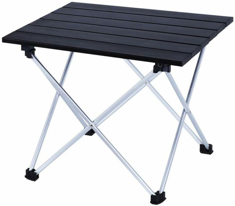 Outdoor Lightweight Folding  Camping Table- Small Compact Picnic Aluminum Table