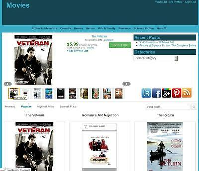 Movie Store Amazon Affiliate Website Unlimited Earning Free Hositnginstallation