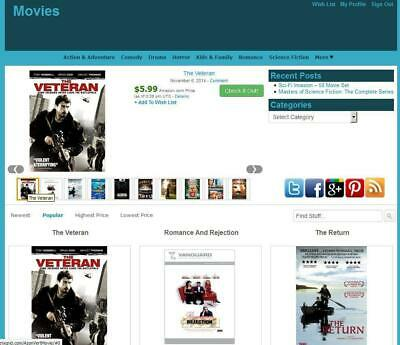 Movie Store Amazon Affiliate Earning Website Free Hostinginstallation