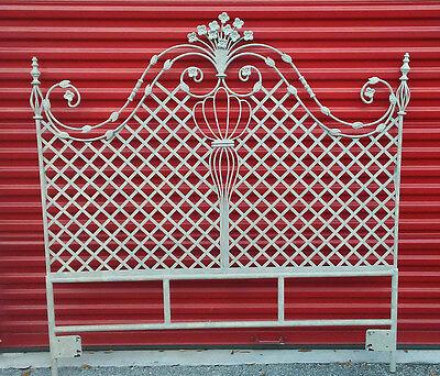 Smashing Vintage Chic & Shabby Iron Lattice Headboard Paris Apartment Estate