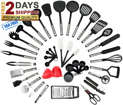 Kitchen Utensil Set 42 Piece Cooking Utensils Stainless Steel- Best Kitchen