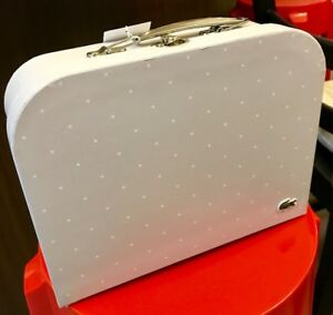 Authentic white Lacoste suitcase gift box