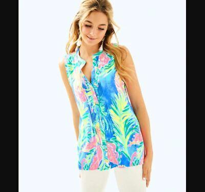 Lilly Pulitzer NEW Womens Size Medium Blue Sleeveless Sarasota Top Summer (Sarasota Women)