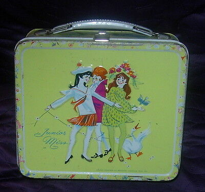 JUNIOR MISS LUNCH BOX AND THERMOS BOTTLE  ALADDIN  C. 1970