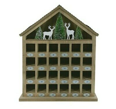 "17"" Winter Woodlands Tabletop Advent Calendar House by Ashland®"
