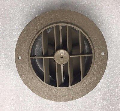 """4"""" BEIGE Round Rotaire Grille Damper Heat AC Outlet Register Vent 3840RDB RV"""