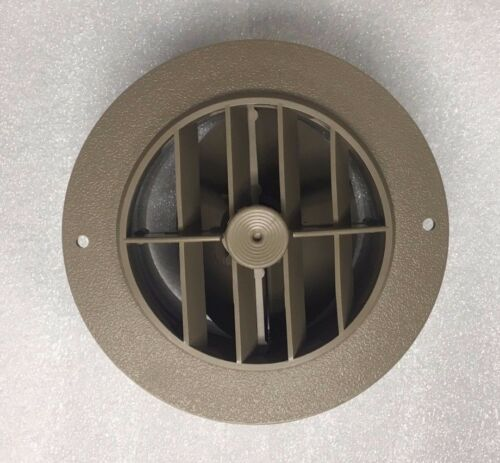"5 1/2"" Face 4"" Back BEIGE Round Rotaire Grille Damper Heat AC Register Vent RV"