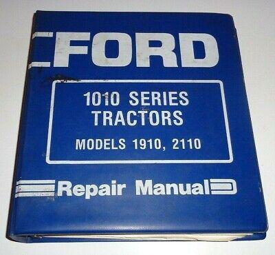 Ford 1910 2110 Tractor Service Repair Shop Workshop Manual Binder Original