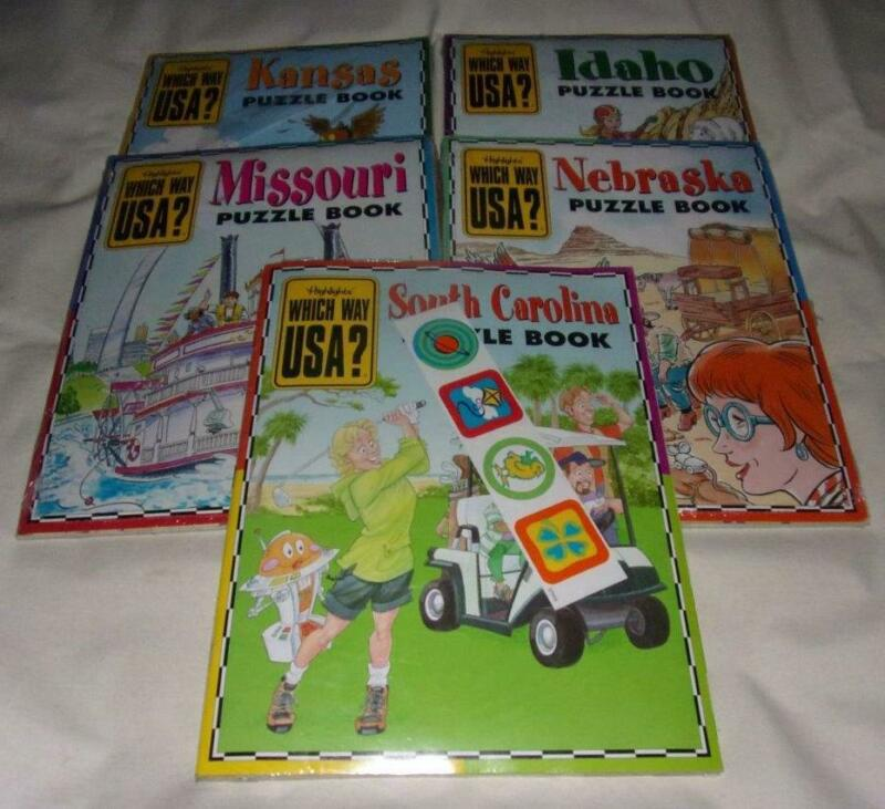 Set of 10 Highlights Which Way USA books + maps NEW