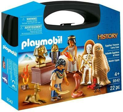 Playmobil Egyptian Treasure Carry Case Pretend Play With Toy Figures