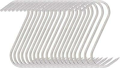 Stainless Steel Butcher Hunters Drying Hook For Meat Processing 20 Pcs 5 Inches