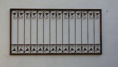 Schmiedeeisen Zaun Zäune Eisen Gartenzaun Metall Monaco-Z60/200 roh Rost 200 cm