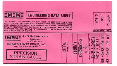 Vishay Micro Measurements Strain Gages Gauges Ea-06-125pc-120