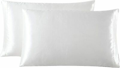 Very Large White Satin Stripe Square Cushion Cover Aprox 31x31 Inch Pillowcase