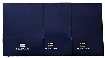 Set Of 3 Authentic US Airways Company Store Bifold Paper Folders (Us Airways Store)