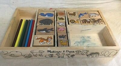 - Melissa & Doug Wooden Animal Stamp Set