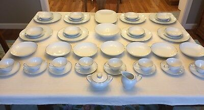 Fine China Dinnerware Set Rose China Japan Serena Pattern 3807 (51 Pieces)