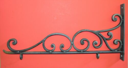 "Sign Bracket Holder, Wrought Iron Scroll 25"" by Worthington Forge in USA"
