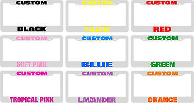 White Personalized License Plate Frame Color Choice