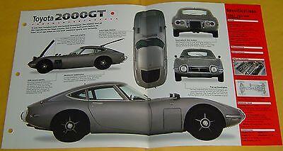 1968 1969 1970 1967 Toyota 2000 GT 6 Cylinder 3 Carbs IMP Info/Specs/photo 15x9