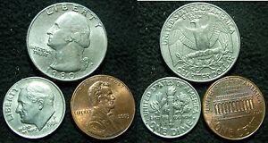 4G-U-S-A-USA-LOTTO-QUARTER-DOLLAR-1980-ONE-DIME-1986-ONE-CENT-2003