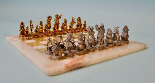 Antique German Christmas Chess Set 19th century