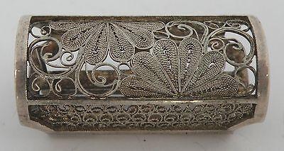 Early 1900's Japanese export 950 sterling Silver Filigree Vinaigrette pin brooch