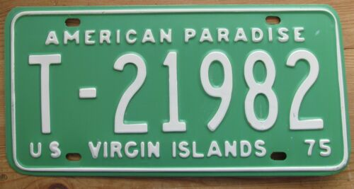 Virgin Islands 1975 AMERICAN PARADISE License Plate HIGH QUALITY # T-21982