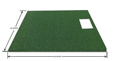 3 x 5 Golf Mat For Optishot Simulator Practice Golf Grass Turf Mat With Foam Pad