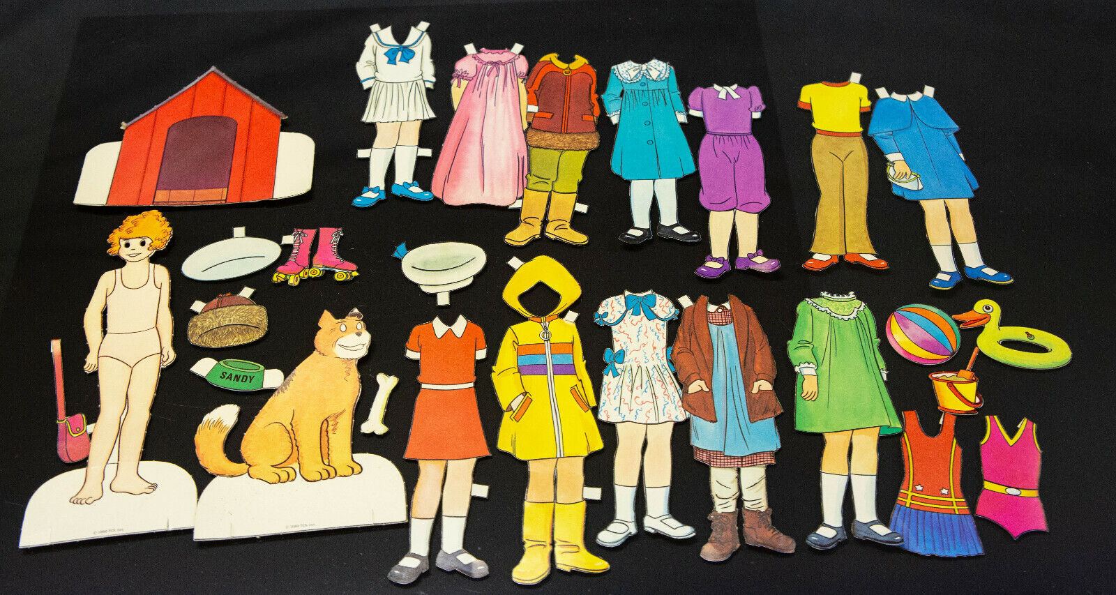 Vintage Little Orphan Annie Paper Doll Cutout Lot - Annie, Sandy, Doghouse, Etc - $12.95