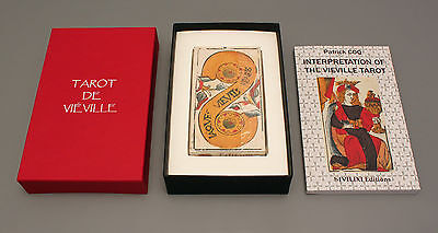 TAROT JACQUES VIEVILLE  DECK & BOOK SET -  REPLICA 17th CENTURY TAROT - NIB