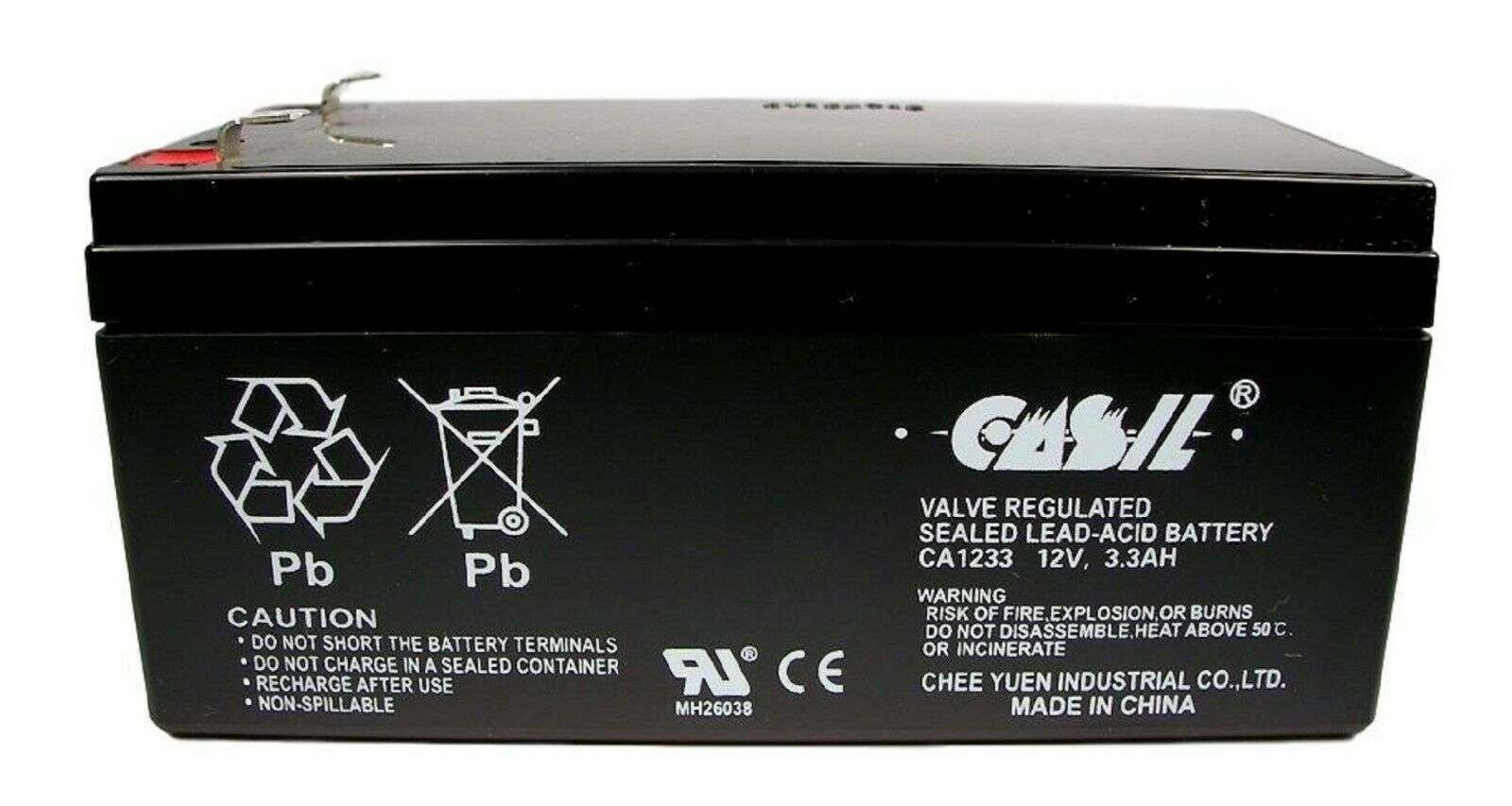 RBC35 WP3-12 Replacement Battery 12V 3.3 Ah replaces 3.5AH f