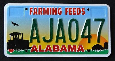 """ALABAMA """" AGRICULTURE FARMING FEEDS TRACTOR  BARN """" AL Specialty License Plate"""