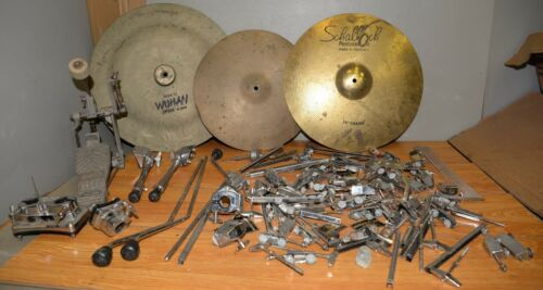 Vintage drum parts cymbal foot pedal hardware collectible Pearl & more music lot