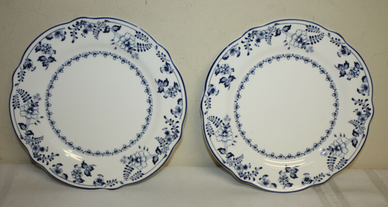 Noritake Primachina Fair Wind Blue White Salad/Dessert Plates Lot 2