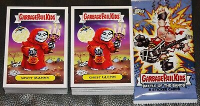2017 Garbage Pail Kids Battle Of The Bands Complete Set 180 Cards   Wrapper Gpk