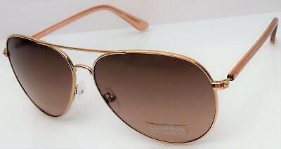 Calvin Klein Aviator Sunglasses Mens Rose Gold Frame Brown Lens CK19314S 780 NEW