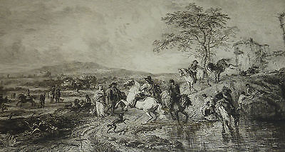 Dreißigjähriger Krieg Landsknechte Pferdetränke William Unger *1837 Hannover