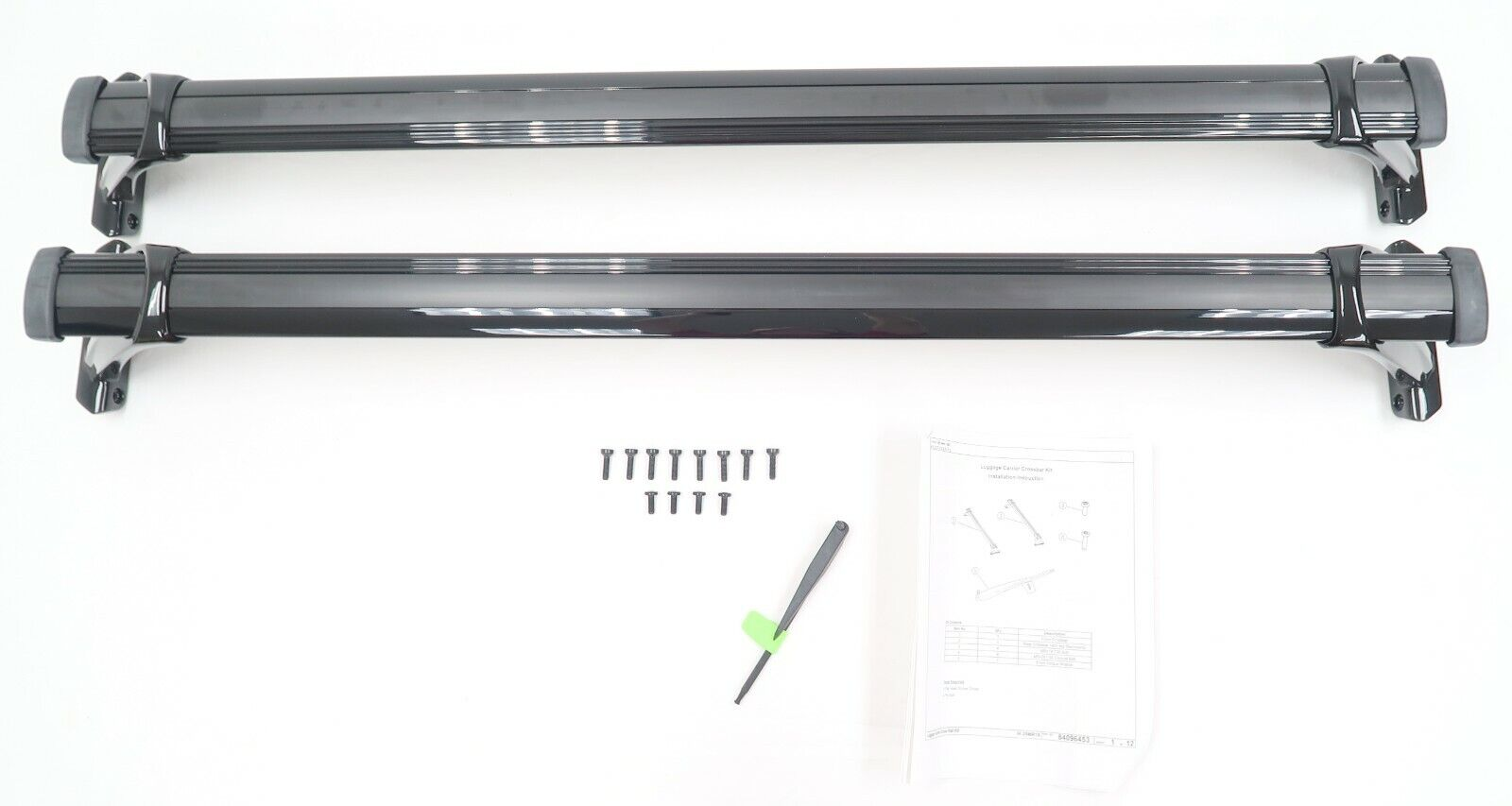 GM OEM Chevrolet Blazer W/OUT SUNROOF Removable Gloss Black Roof Cross Rails NEW