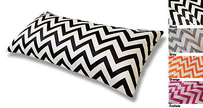 - Aiking Home Luxuries Chevron Poly Satin Body Pillow COVER - 54 by 20 inches
