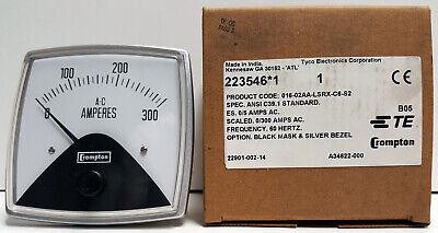 Crompton 016-02aa-lsrx-c6-s2 Panel Meter 0-300 Amps Ac New - Open Box