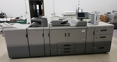 Ricoh Pro 8100s Bw Digital Press Copier - 95 Ppm - Only 741k Meter Clicks
