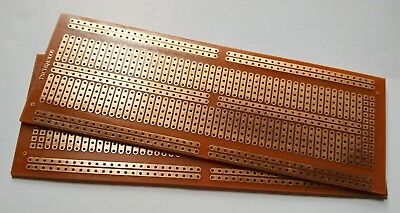 2pcs4.8x13.3cm Diy Pcb Perf Board Prototype Circuit Bus Breadboard Discrete Dip