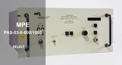 MICROWAVE POWER EQUIPMENT (MPE) PAS-53-0-800/1000 200W RF AMPLIFIER (REF.: G)