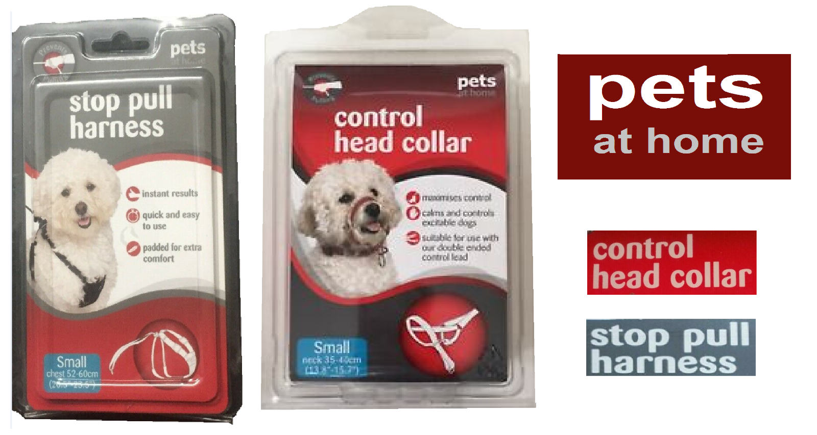 Pets At Home Stop Pull Harness S M L Xl And Control Head Collar S M L Combine Ebay